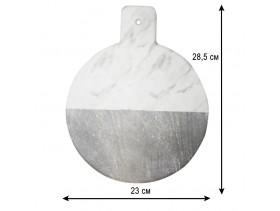 Тарелка круглая из пластика с ручкой 11