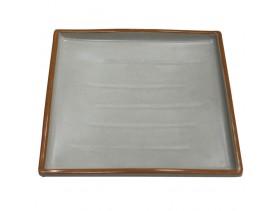 Тарелка квадратная из пластика белая  E245 М-1027