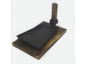 Сковородки чугунные на деревянной подставке 20×15×2 см РИ-35/52